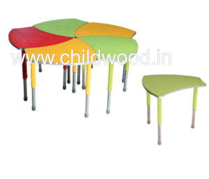 Playschool plastic table & chair