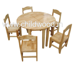 Playschool wooden round table